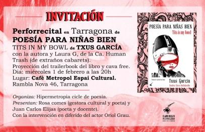 """""""Poesía para niñas bien"""", Txus Garcia"""